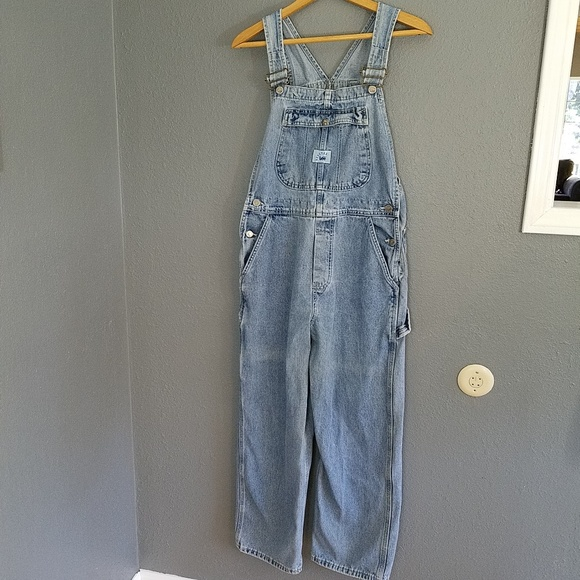 12ba5eaa2e5 Lee Jeans | Light Blue Bib Overalls S Riveted Womens | Poshmark